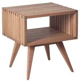 Mesa de Apoio Madeira Ripado Dominoes 45 cm - Wood Prime MR 34639