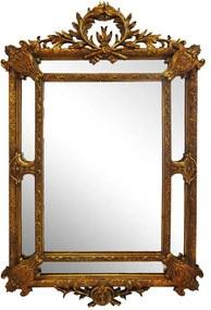 Espelho Com Modura em Madeira Dourada Clássica Luis XV