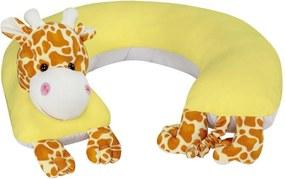 Almofada Amamentação Girafa Grão de Gente Amarelo