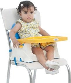 Cadeira Cadeirinha AlimentaçÁo Bebê Portátil Baby Style Azul