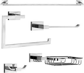 Kit de Acessórios para Banheiro (Mondrian Cromado)