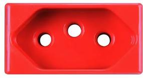 Módulo Tomada 2P+T 20a Vermelho 57115033 - Tramontina - Tramontina
