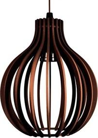 Pendente de madeira | 21x18cm | Café | Mod: Bali