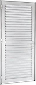 Porta de Alumínio de Abrir Veneziana Alumifort Branca 1 Folha Abertura Direita 216x88x5,4 - Sasazaki - Sasazaki