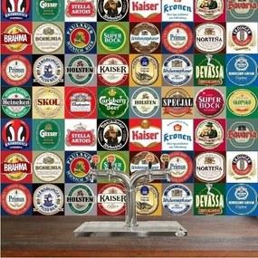 Adesivo Azulejos Rótulos De Cervejas (20x20cm)