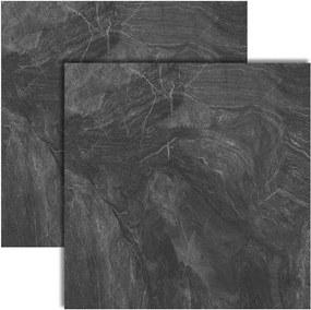 Porcelanato Marble Dark Lux Polido Retificado 82x82cm - P82021 - Embramaco - Embramaco