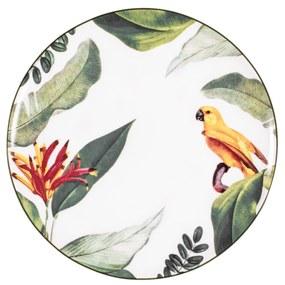 Jogo C/ 6 Pratos Rasos Porcelana Germer Natureza