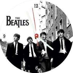 Relógio Decorativo Beatles Branco e Preto