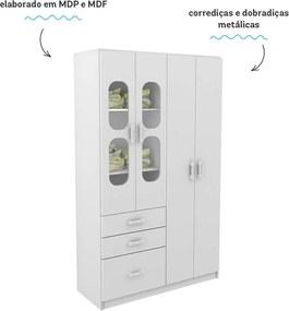 Guarda Roupa 4 Portas Plic Plac Branco Multicores Rodial Móveis