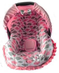 Capa Para Bebe Conforto Nuvem Rosa Nova Alan Pierre Baby Sem Bordado