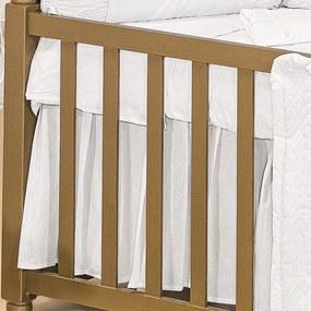 Saia De Berço Padroeira Baby Princesa Luxo - Branco