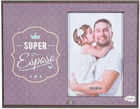 Porta Retrato em MDF 10x15 - Super Esposo - Vikos