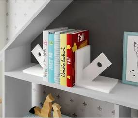 Kit Aparador de Livros Seta - Laca Branco