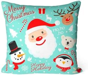 Capa de Almofada Love Decor Avulsa Decorativa Happy Holiday Azul
