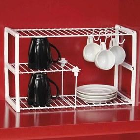 Aramados para Cozinha Organizador de Xicaras, Pratos Organizador Armario Branco