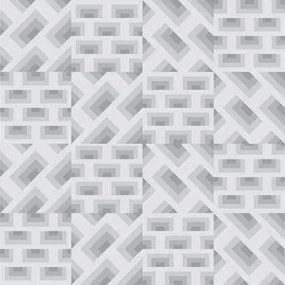 Adesivo Azulejo Geométrico 3D Cinza 28444838