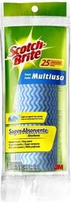 Pano Multiuso Azul Limpeza Diária 58x33 - 3M - 3M
