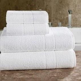 Toalha de Banho Teka Mônaco Branca 70cm x 135cm 380g/m²