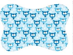 Tapete PET Mdecore Osso Cachorro Azul54x39cm