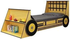 Cama Infantil Solteiro Trator Gelius Amarelo