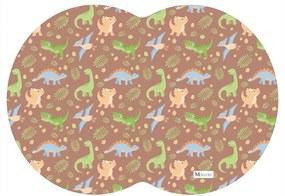 Tapete PET Mdecore Geométrico Dinossauro Marrom 54x39cm