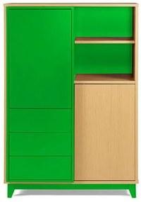 Adega Quadrato Cor Natural Com Verde - 29524 Sun House
