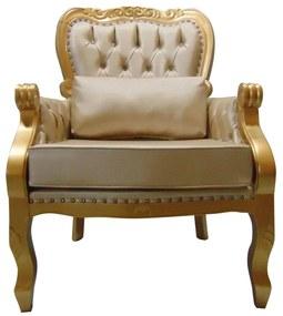 Poltrona Imperador com Tachas  - Wood Prime 864505