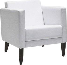 Poltrona Decorativa Konay 1 Lugar PU Sintético Branco - Gran Belo