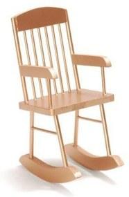 Enfeite Natalino Decorativo Cadeira de Balanço Dourada 25x10