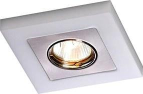 Embutido Quadrado Una Square Branco Leitoso e Escovado para Mini-Dicróica - Bella Itália - EM700B/E