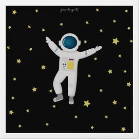 Quadro Astronauta 18cm GrÁo de Gente Azul