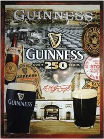 Placa Decorativa Guinness Over 250 Média em Metal - 30x20cm