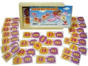 Jogo Dominó Ciabrink de Multiplicação Multicolorido