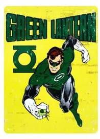 Placa Decorativa em MDF Lanterna Verde DC Comics