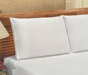 Roupa de Cama Casal Queen Bianca Microfibra 03 Peças - Branco
