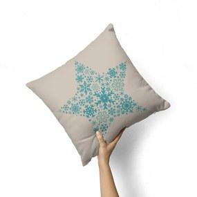 Capa de Almofada Avulsa Decorativa Estrela de Natal 35x35cm