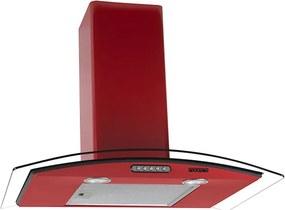 Coifa em Vidro Curvo Slim Vermelho de 70 cm - 220 Volts