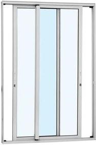 Porta de Correr Alumínio - 2 Folhas Móveis - Branco Alumifort 216x160x9,2cm - 77136525 - Sasazaki - Sasazaki