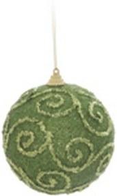Bola de Natal Para Pendurar Árvore Natal 8Cm Verde 6 Peças