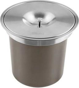 Lixeira Embutida de Cozinha Franke Redonda 5 Litros (Prata)