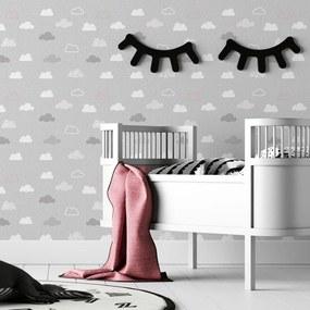 Papel de parede adesivo infantil nuvens
