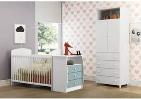 Quarto de Bebê Completo Doce Encanto - Branco/Azul