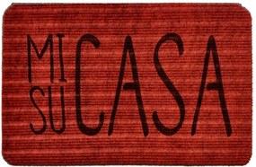 Capacho Carpet Mi Casa Su Casa Vermelho Único Love Decor