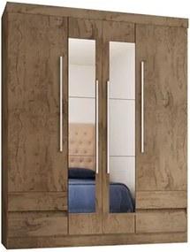 Guarda Roupa Casal 4 Portas com Espelho 4400 Demolição - Araplac