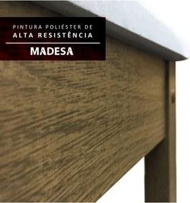 Sala de Jantar Maris com 6 Cad. Rustic/ Pérola Madesa