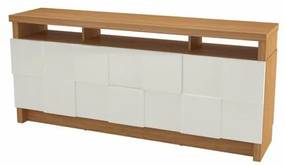 Buffet Delos Quadriculado cor Freijo com Off White 1,76 MT (LARG) - 59045 Sun House