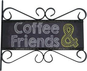 Placa Kasa Ideia Coffe and Friends 28x32cm