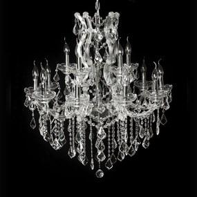 Lustre Clássico Gotas de Cristal Lapidado 15 Velas