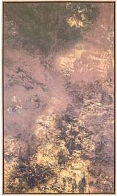 Tela Ouro em Canvas - 50x70cm - Moldura Natural  Kleiner Schein