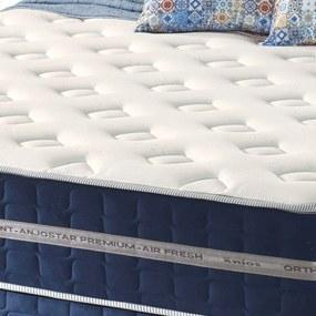 Conjunto Cama Box + Colchão de Casal Anjo Star Premium com Espuma D33 138X188X67 Firme Azul Anjos